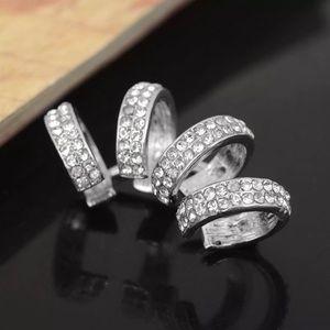 Silver CZ Ring Ear Cuff